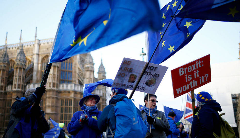 manifestantes brexit